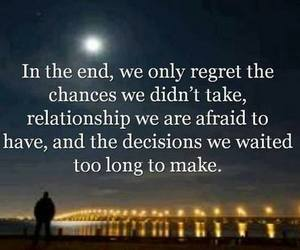quotes, regret, and chance image