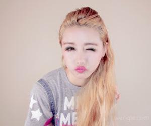 korean, circle lenses, and cute image