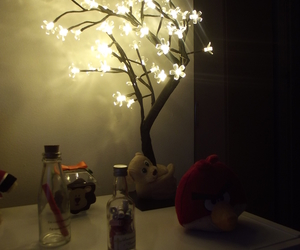 flowers, light, and angry birds image