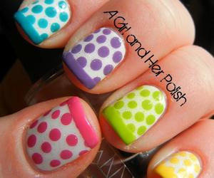 nails, dots, and colorful image