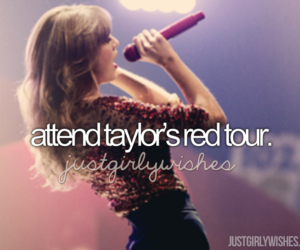 concert, Taylor Swift, and red image