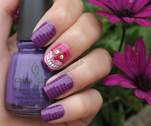 nails, photography, and alice in wonderland image