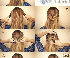 blond hair, bow, and hair image