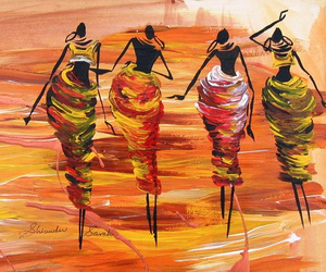 abstract, africa, and women image