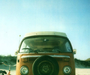 vw, beach, and hippie image