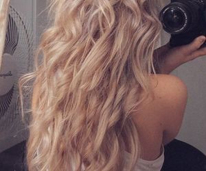 blonde, curls, and Hot image