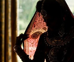 india, bride, and indian image