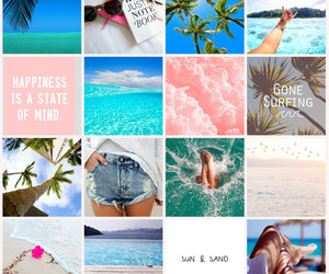 beach, Collage, and fashion image