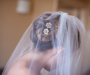 wedding, hair, and bride image