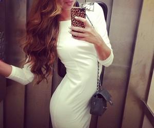 dress, skinny, and white image