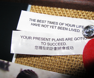 diamond, fortune cookie, and quote image
