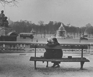 couple, paris, and photography image