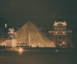 louvre, night, and photo image