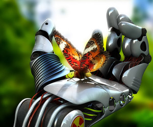 butterfly and robot image