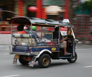 bangkok, transport, and tuk tuk image