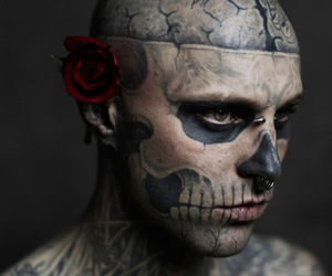 body mod, body modification, and rose image