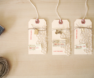 tag, vintage, and lace image
