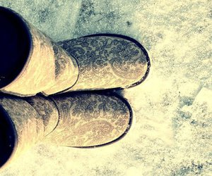 legs, snow, and uggs image