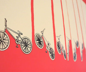 bicycle, bike, and wall image