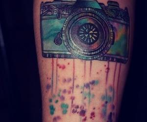 tattoo, camera, and photo image