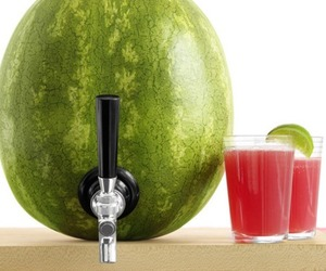 watermelon, juice, and fruit image