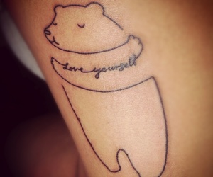 tattoo, bear, and love image