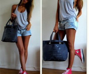 chucks, denim shorts, and high tops image