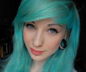 piercing, hannah walpole, and blue hair image