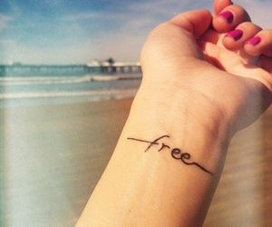 free, tattoo, and beach image