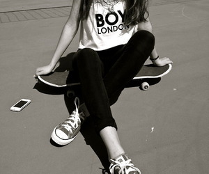 girl, skate, and converse image