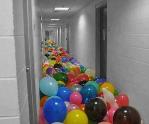 balloon, funny, and scool image