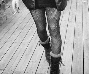 boots, girl, and tights image
