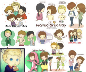 shit and cartoon one direction image
