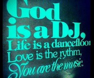 god, music, and love image