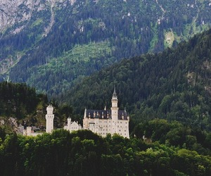 castle, mountains, and germany image