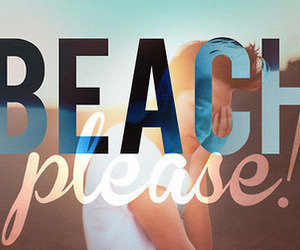 beach, please, and summer image