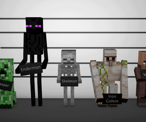 cool, zombie, and creeper image