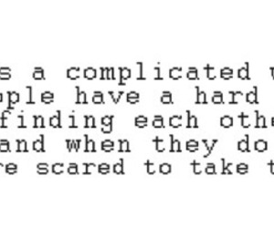 quote, love, and complicated image
