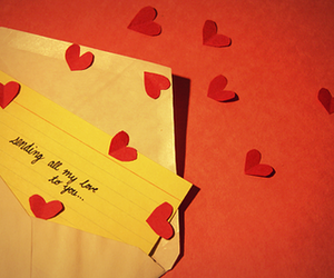 hearts, note, and love image