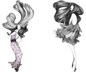 fashion, illustration, and Laura Laine image