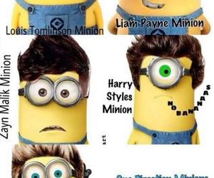 minions, one direction, and 1d image