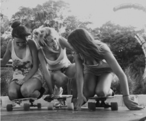 black and white, girls, and photography image