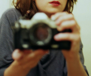 girl, blurry, and camera image