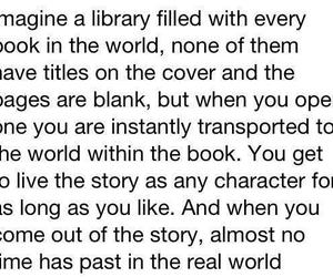 book, imagine, and library image