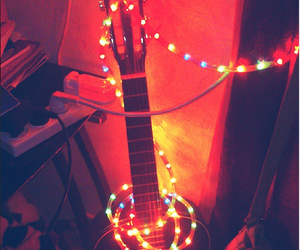 glow, room, and guitar image