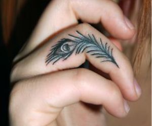 feather tattoo, tattoo, and ink image