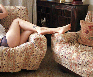 girl, tattoo, and legs image