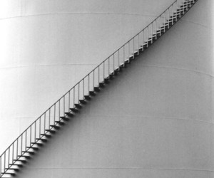 awesome, black and white, and stairs image