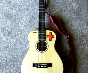 +, guitar, and music image