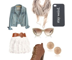 outfit, Polyvore, and stay weird image